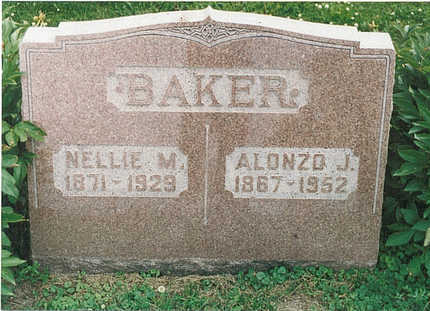 BAKER, NELLIE MAY - Mills County, Iowa | NELLIE MAY BAKER