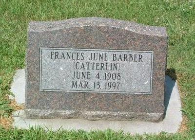 CATTERLIN BARBER, FRANCIS JUNE - Mills County, Iowa | FRANCIS JUNE CATTERLIN BARBER