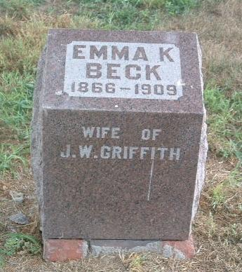 BECK, EMMA K. - Mills County, Iowa | EMMA K. BECK