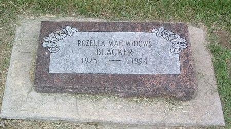BLACKER, ROZELLA MAE - Mills County, Iowa | ROZELLA MAE BLACKER