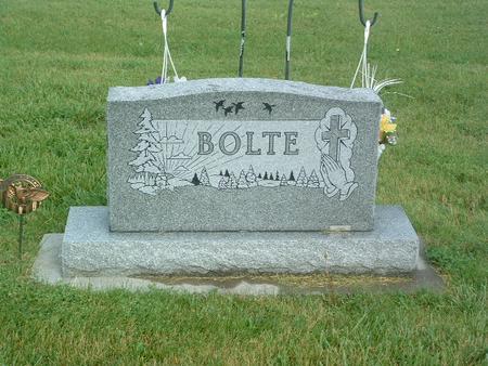 BOLTE, HEADSTONE - Mills County, Iowa   HEADSTONE BOLTE