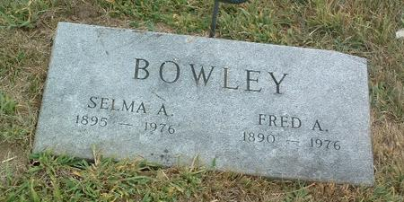 BOWLEY, FRED A. - Mills County, Iowa | FRED A. BOWLEY