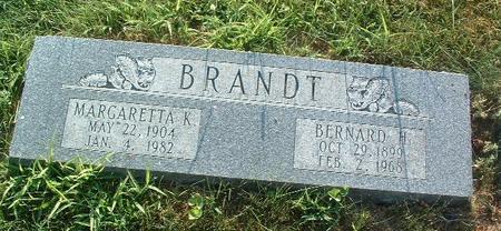 BRANDT, BERNARD H. - Mills County, Iowa | BERNARD H. BRANDT
