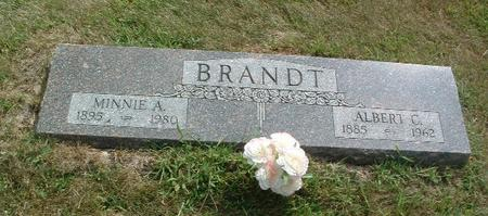 BRANDT, MINNIE A. - Mills County, Iowa | MINNIE A. BRANDT