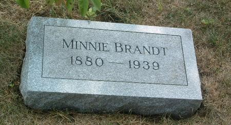 BRANDT, MINNIE - Mills County, Iowa | MINNIE BRANDT