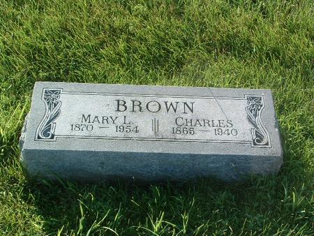 BROWN, MARY L. - Mills County, Iowa | MARY L. BROWN