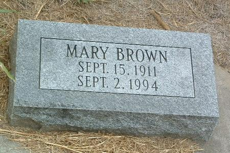 BROWN, MARY - Mills County, Iowa | MARY BROWN