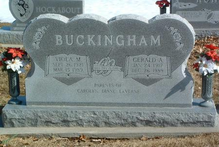 BUCKINGHAM, GERALD A. - Mills County, Iowa | GERALD A. BUCKINGHAM