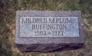 PLUMB BUFFINGTON, MILDRED M. - Mills County, Iowa | MILDRED M. PLUMB BUFFINGTON