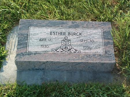 BURCK, ESTHER - Mills County, Iowa | ESTHER BURCK