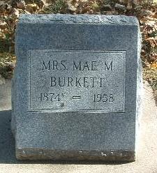 BURKETT, MAE M. - Mills County, Iowa | MAE M. BURKETT