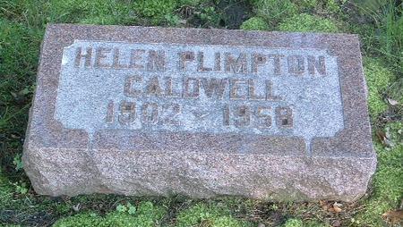 PLIMPTON CALDWELL, HELEN - Mills County, Iowa | HELEN PLIMPTON CALDWELL