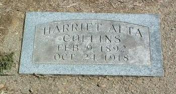 COLLINS, HARRIET ALTA - Mills County, Iowa | HARRIET ALTA COLLINS