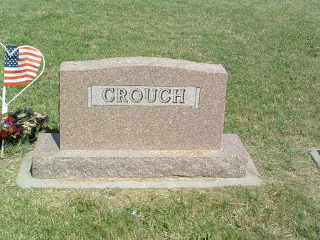 CROUCH, HEADSTONE - Mills County, Iowa | HEADSTONE CROUCH
