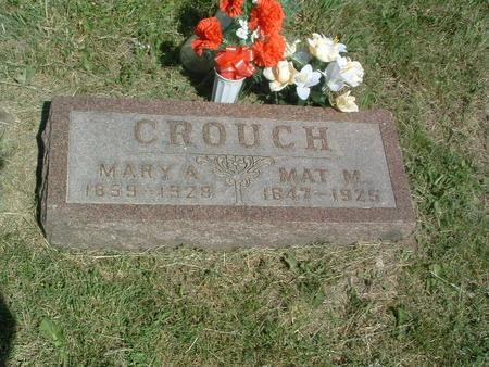 CROUCH, MARY A. - Mills County, Iowa | MARY A. CROUCH