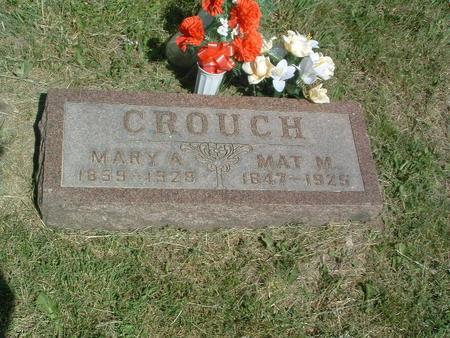 CROUCH, MAT. M. - Mills County, Iowa | MAT. M. CROUCH