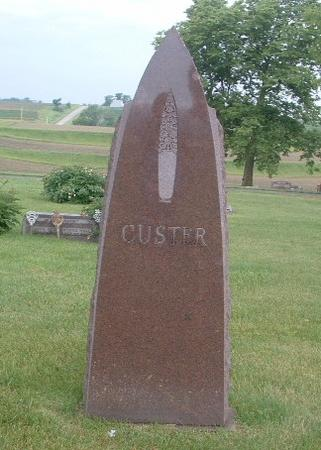 CUSTER, HEADSTONE - Mills County, Iowa | HEADSTONE CUSTER