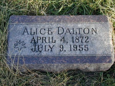 DALTON, ALICE H - Mills County, Iowa | ALICE H DALTON