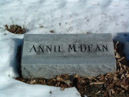 DEAN, ANNIE M. - Mills County, Iowa | ANNIE M. DEAN