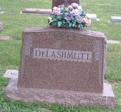 DELASHMUTT, FAMILY HEADSTONE - Mills County, Iowa | FAMILY HEADSTONE DELASHMUTT