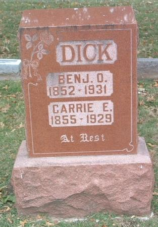DICK, CARRIE E. - Mills County, Iowa | CARRIE E. DICK