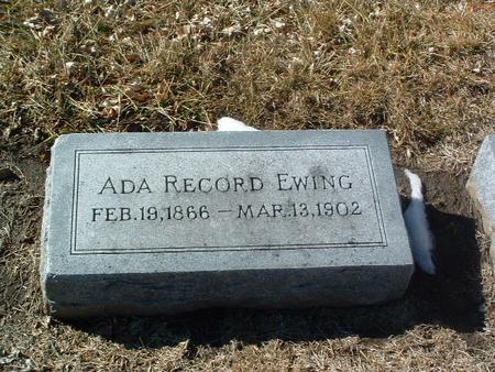 RECORD EWING, ADA - Mills County, Iowa | ADA RECORD EWING