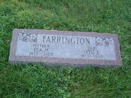 FARRINGTON, IDA M. - Mills County, Iowa | IDA M. FARRINGTON