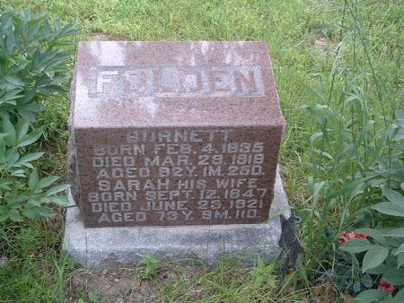 FOLDEN, BURNETT - Mills County, Iowa | BURNETT FOLDEN