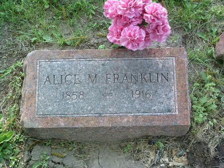 FRANKLIN, ALICE M. - Mills County, Iowa | ALICE M. FRANKLIN