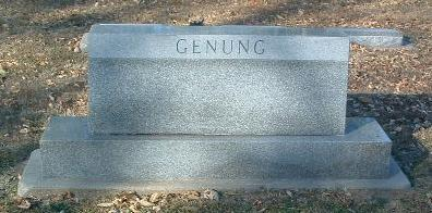 GENUNG, FAMILY HEADSTONE - Mills County, Iowa | FAMILY HEADSTONE GENUNG