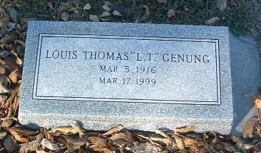 GENUNG, LOUIS THOMAS - Mills County, Iowa | LOUIS THOMAS GENUNG