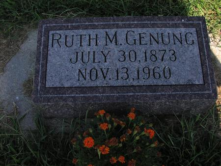 GENUNG, RUTH M - Mills County, Iowa | RUTH M GENUNG