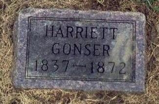 THOMAS GONSER, HARRIETT A. - Mills County, Iowa | HARRIETT A. THOMAS GONSER