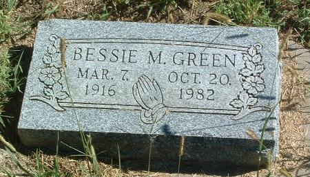 GREEN, BESSIE M. - Mills County, Iowa | BESSIE M. GREEN