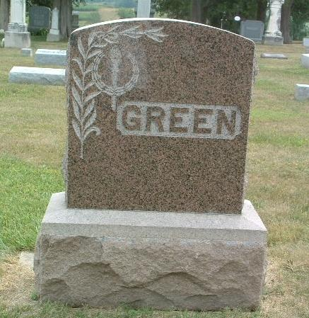 GREEN, FAMILY HEADSTONE - Mills County, Iowa | FAMILY HEADSTONE GREEN