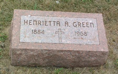 GREEN, HENRIETTA A. - Mills County, Iowa | HENRIETTA A. GREEN
