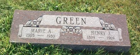 GREEN, MARIE A. - Mills County, Iowa | MARIE A. GREEN