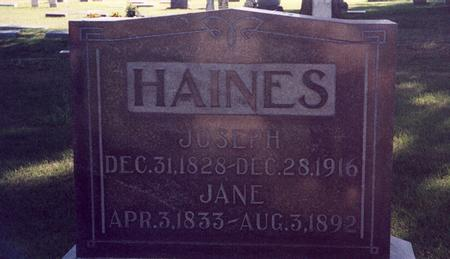 HAINES, JANE - Mills County, Iowa | JANE HAINES