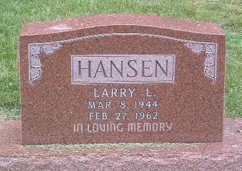 HANSEN, LARRY L. - Mills County, Iowa | LARRY L. HANSEN
