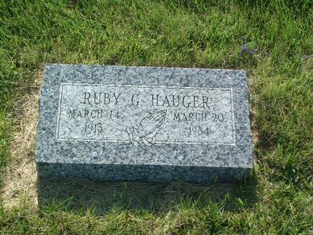 HAUGER, RUBY G. - Mills County, Iowa | RUBY G. HAUGER