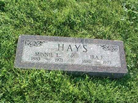 HAYS, MINNIE L. - Mills County, Iowa | MINNIE L. HAYS