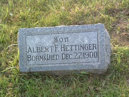HETTINGER, ALBERT F. - Mills County, Iowa | ALBERT F. HETTINGER