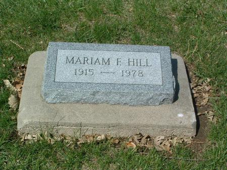 HILL, MARIAM F. - Mills County, Iowa | MARIAM F. HILL