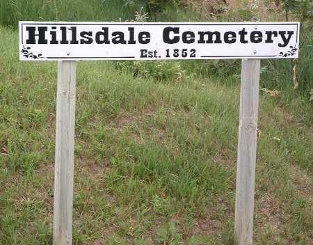 HILLSDALE, CEMETERY - Mills County, Iowa | CEMETERY HILLSDALE