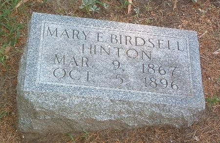 BIRDSELL HINTON, MARY E. - Mills County, Iowa | MARY E. BIRDSELL HINTON