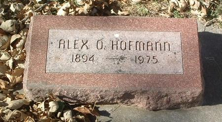 HOFMANN, ALEX O. - Mills County, Iowa | ALEX O. HOFMANN