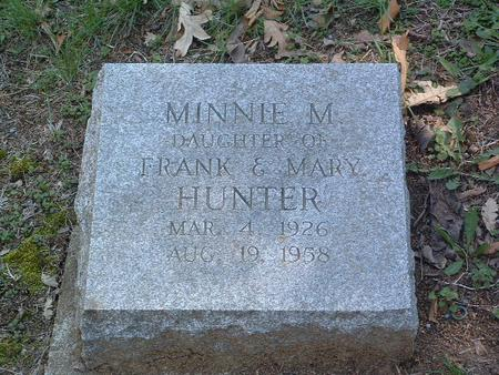 HUNTER, MINNIE M. - Mills County, Iowa | MINNIE M. HUNTER