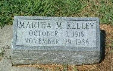KELLEY, MARTHA M. - Mills County, Iowa | MARTHA M. KELLEY