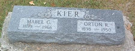 KIER, MABEL C. - Mills County, Iowa | MABEL C. KIER