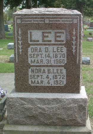 LEE, ORA D. - Mills County, Iowa | ORA D. LEE